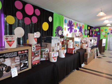 Silent Auction Prizes at the Odyssey Sunrise Golf Tournament in Grande Prairie, AB